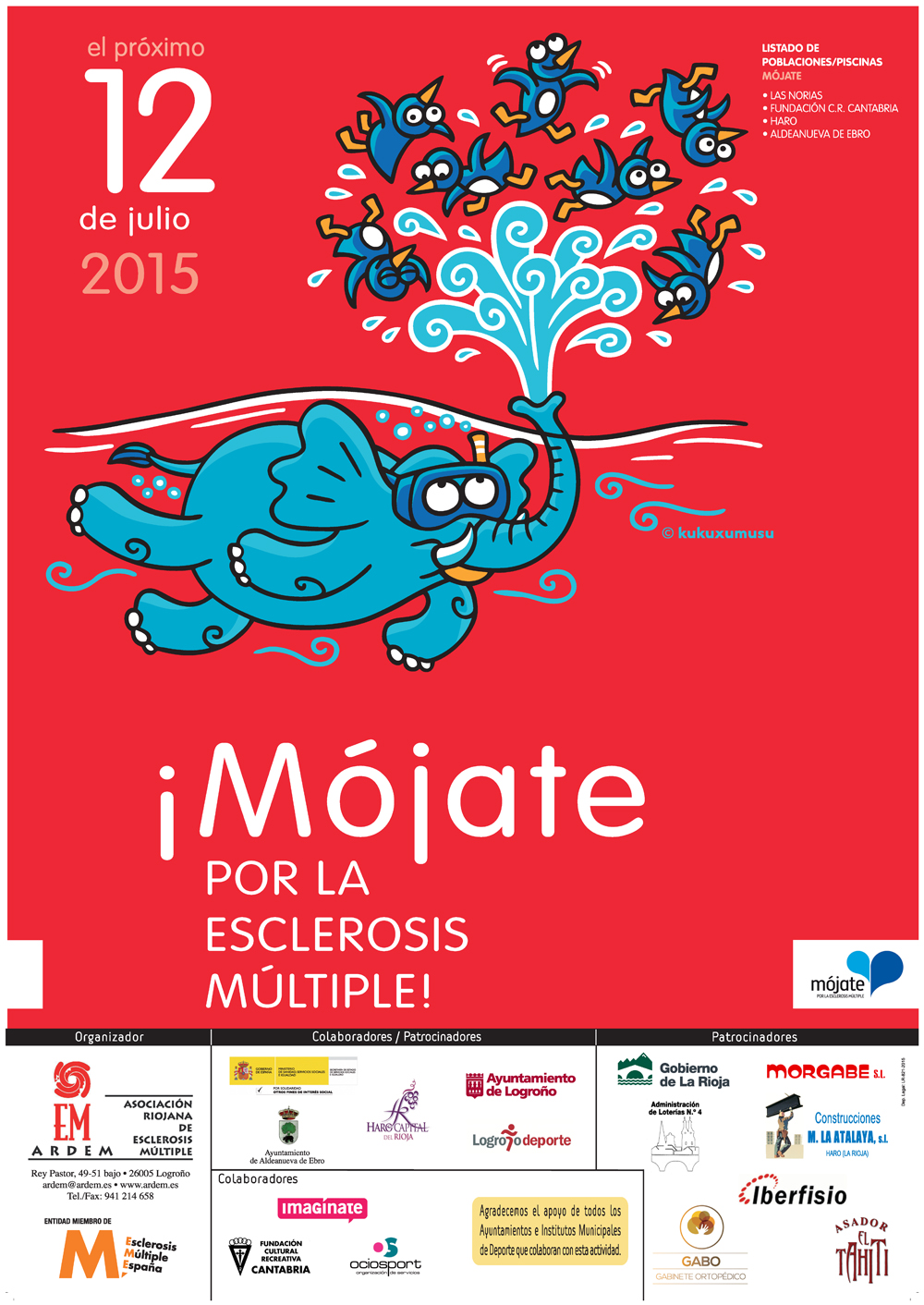 12 de Julio, Mójate por la Esclerosis Múltiple