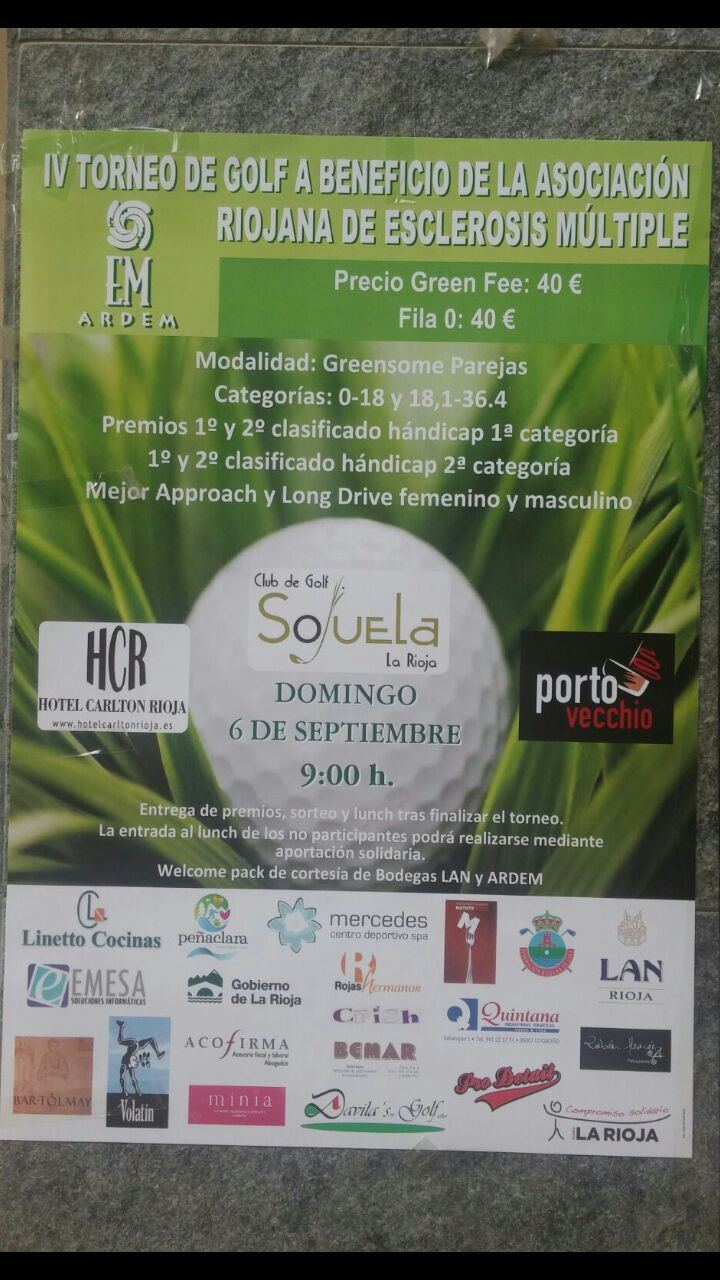 IV Torneo de Golf en Beneficio de la Asociación ARDEM
